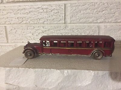 "Rare Antique Vintage Cast Iron Toy Bus Williams Arcade Fageol 7.75"" Unmarked"