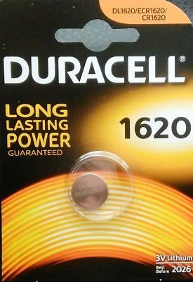2 x Duracell CR1620 DL1620 ECR1620 Lithium 3v Batteries Coin Cell Use By 2026