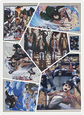 Anime Attack on Titan Poster Wall Art Home Decor 16.5x11.25 Inches