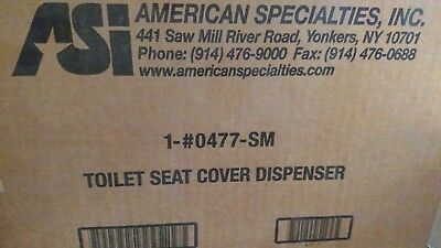 Asi # 0477 - Sm Surface Mounted Toilet Seat Cover Dispenser Us32D Dull Stainless