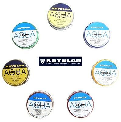 KRYOLAN AQUACOLOR 55 ml cialda truccabimbi trucco professionale make-up