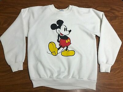 Mens Vintage 80's Disney Classic Mickey Mouse Paper Thin Sweatshirt Size Small