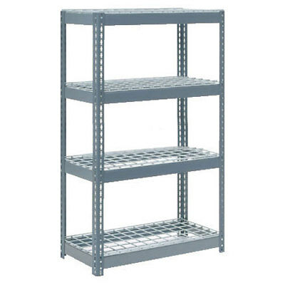 "Boltless Extra Heavy Duty Shelving 36""W x 24""D x 60""H, 4 Shelves, Wire Deck, Lot"