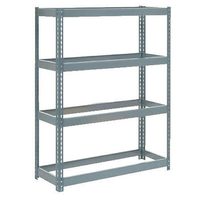 "Boltless Extra Heavy Duty Shelving 48""W x 12""D x 60""H, 4 Shelves, No Deck, Lot"