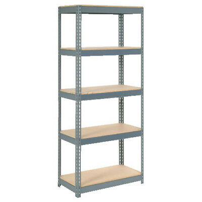 "Boltless Extra Heavy Duty Shelving 36""W x 24""D x 84""H, 5 Shelves, Wood Deck, Lot"