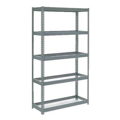 "Boltless Extra Heavy Duty Shelving 48""W x 24""D x 60""H, 5 Shelves No Deck, Lot of"