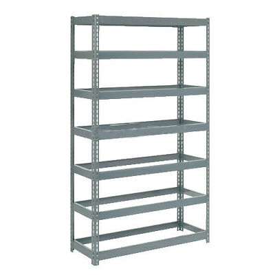 "Boltless Extra Heavy Duty Shelving 48""W x 24""D x 84""H, 7 Shelves, No Deck, Lot"