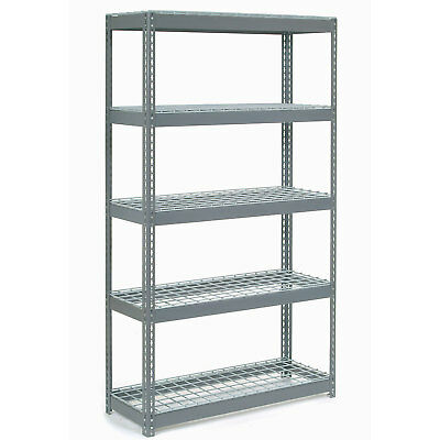 "Boltless Extra Heavy Duty Shelving 48""W x 18""D x 60""H, 5 Shelves, Wire Deck, Lot"