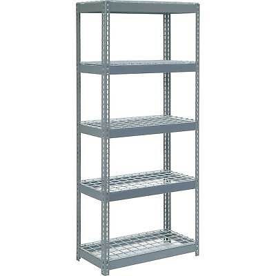 "Boltless Extra Heavy Duty Shelving 36""W x 12""D x 60""H, 5 Shelves, Wire Deck, Lot"
