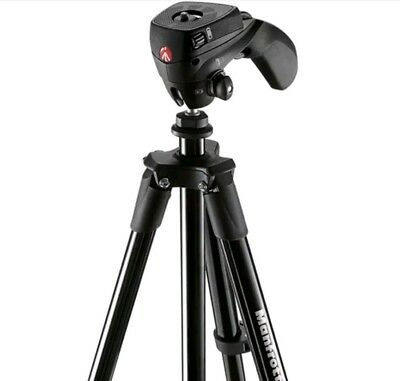 "Manfrotto - 60"" Compact Action Tripod - Black MKCOMPACTACN-BK #OT3"