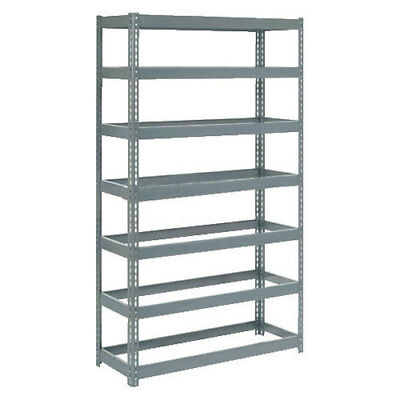 "Boltless Extra Heavy Duty Shelving 48""W x 12""D x 96""H, 7 Shelves, No Deck, Lot"