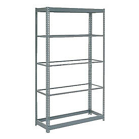 "Boltless Heavy Duty Shelving 48""W x 18""D x 72""H, 5 Shelves, No Deck, Lot of 1"
