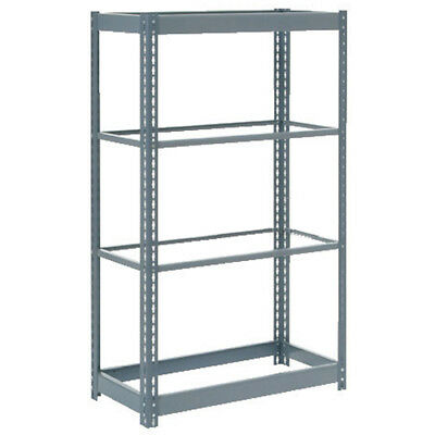 "Boltless Heavy Duty Shelving 36""W x 12""D x 72""H, 4 Shelves, No Deck, Lot of 1"