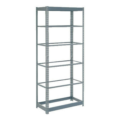 "Boltless Heavy Duty Shelving 36""W x 24""D x 72""H, 6 Shelves, No Deck, Lot of 1"
