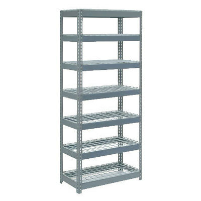 "Boltless Extra Heavy Duty Shelving 48""W x 18""D x 96""H, 7 Shelves, Wire Deck, Lot"