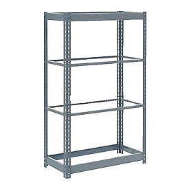 "Boltless Heavy Duty Shelving 48""W x 12""D x 72""H, 4 Shelves, No Deck, Lot of 1"