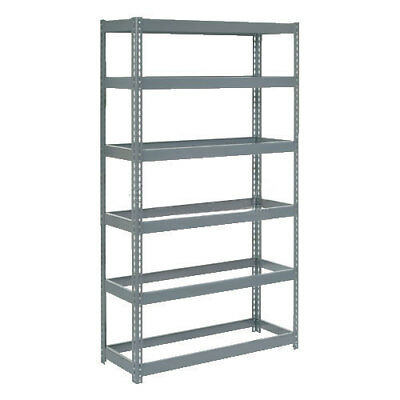 "Boltless Extra Heavy Duty Shelving 48""W x 12""D x 72""H, 6 Shelves, No Deck, Lot"