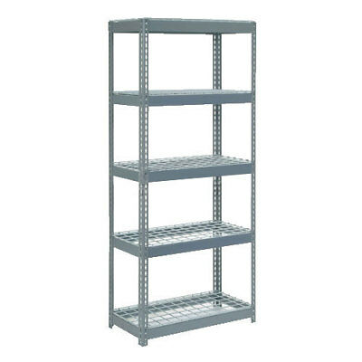 "Boltless Extra Heavy Duty Shelving 36""W x 18""D x 72""H, 5 Shelves, Wire Deck, Lot"