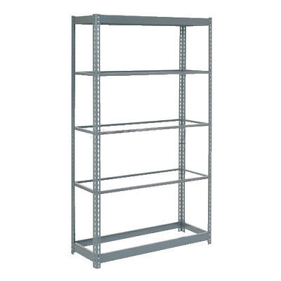"Boltless Heavy Duty Shelving 36""W x 24""D x 72""H, 5 Shelves, No Deck, Lot of 1"