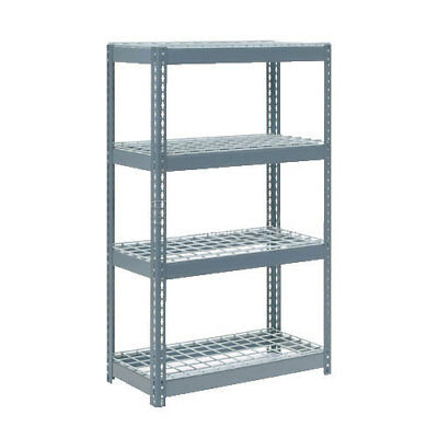 "Boltless Extra Heavy Duty Shelving 36""W x 24""D x 72""H, 4 Shelves, Wire Deck, Lot"