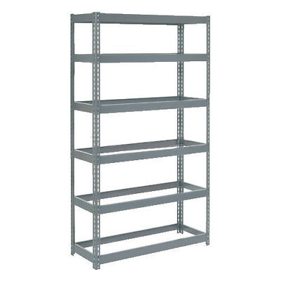 "Boltless Extra Heavy Duty Shelving 48""W x 24""D x 72""H, 6 Shelves, No Deck, Lot"