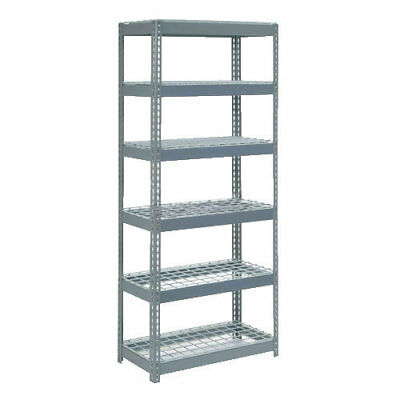 "Boltless Extra Heavy Duty Shelving 36""W x 12""D x 72""H, 6 Shelves, Wire Deck, Lot"