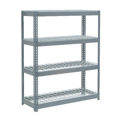 "Boltless Extra Heavy Duty Shelving 48""W x 18""D x 72""H, 4 Shelves, Wire Deck, Lot"