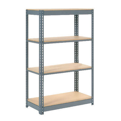 "Boltless Heavy Duty Shelving 36""W x 24""D x 72""H, 4 Shelves, Wood Deck, Lot of 1"