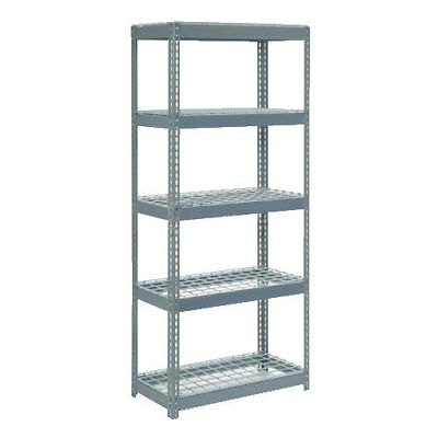 "Boltless Extra Heavy Duty Shelving 36""W x 12""D x 72""H, 5 Shelves, Wire Deck, Lot"