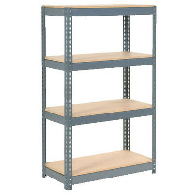 "Boltless Extra Heavy Duty Shelving 36""W x 24""D x 72""H, 4 Shelves, Wood Deck, Lot"