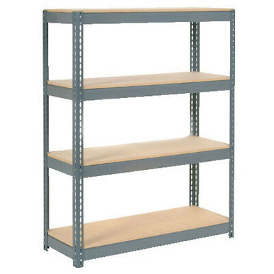 "Boltless Extra Heavy Duty Shelving 48""W x 12""D x 72""H, 4 Shelves, Wood Deck, Lot"