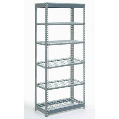 "Boltless Heavy Duty Shelving 36""W x 24""D x 72""H, 6 Shelves, Wire Deck, Lot of 1"