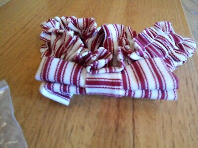 Longaberger Garter Red Ticking Small Sweetheart striped *shipping included!*