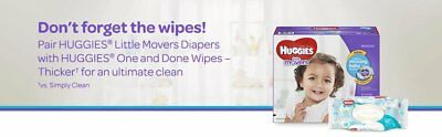 HUGGIES Little Movers Diapers Size 4 152 Count Packaging May Vary