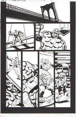 Dan Jurgens/ Sandu Florea 2005 Fantastic Four Movie Art-Thing To The Rescue!