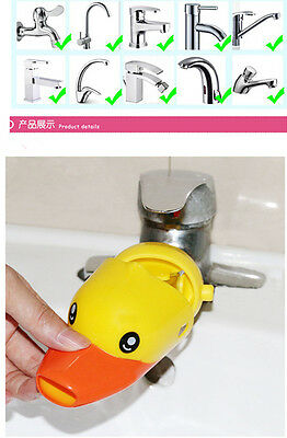 Kid Hand Washing in Bathroom Sink Faucet Extender For Helps Children Toddler 02