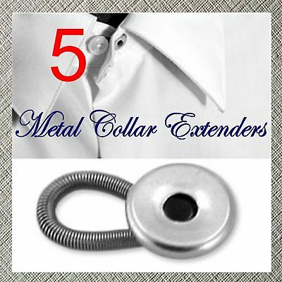 5 Metal Shirt Collar Extenders Expanders Fast Shipping!