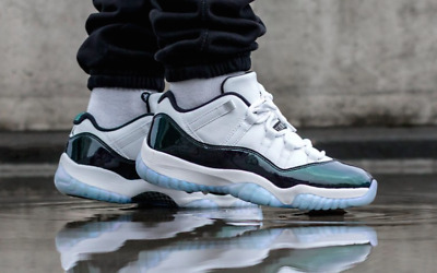 "a0f98f454dc6 AIR JORDAN 11 Retro Low ""Emerald"" Easter Iridescent 528895-145 ..."