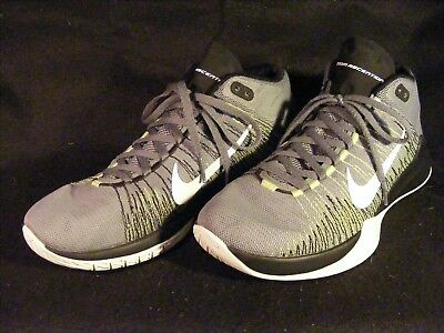 b097eb4fc853e8 closeout mens nike zoom ascention gray black white basketball shoes 832234  004 size 7.5 7108f 306c5