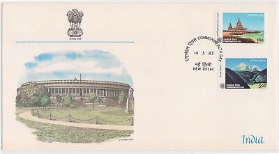 (K85-96) 1983 India FDC 3R Commonwealth Day (CP)