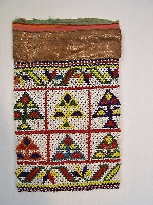 ESTATE Native American Indian Beaded Pipe Smoking Tobacco Bag Pouch StrikeALight