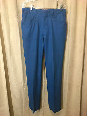 Womens Vtg 1950s Gross Western Pants Size 33-31 Blue Plaids