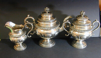 Boyce Coin Silver Coffee Set - New York 1825 - Prominent Family - No Reserve