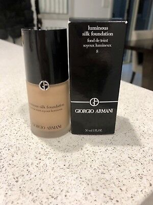 Giorgio Armani Luminous Silk Foundation (# 8 Caramel) 30ml/1oz Womens Makeup