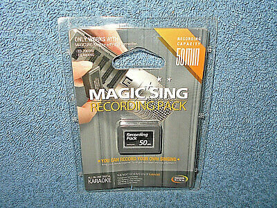 2005 Magic Sing Karaoke 50 Minute Recording Pack By Enter Tech - New Sealed