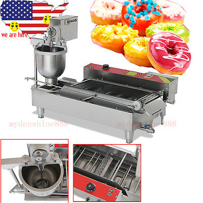 6KW Commercial Automatic Donut Maker Making Machine Oil Tank 3 Sets Free Mold
