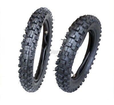 """80/100-12"""" Rear 60/100-14 Inch Front Knobby Tyre/tire & Tube Dirt Pit Trail Bike"""