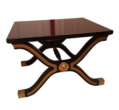 Heritage Dorothy Draper Hollywood Regency  X Base Table Bench