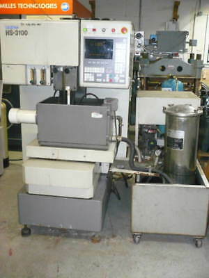 Brother HS3100 wire edm, 2-axis, submerged, under power, extra work tank