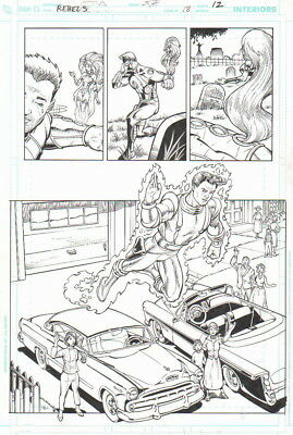 Starfire, Captain Comet Original Art-Claude St. Aubin/ Scott Hanna 2010!